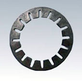 Slotted ball bearing disc spring